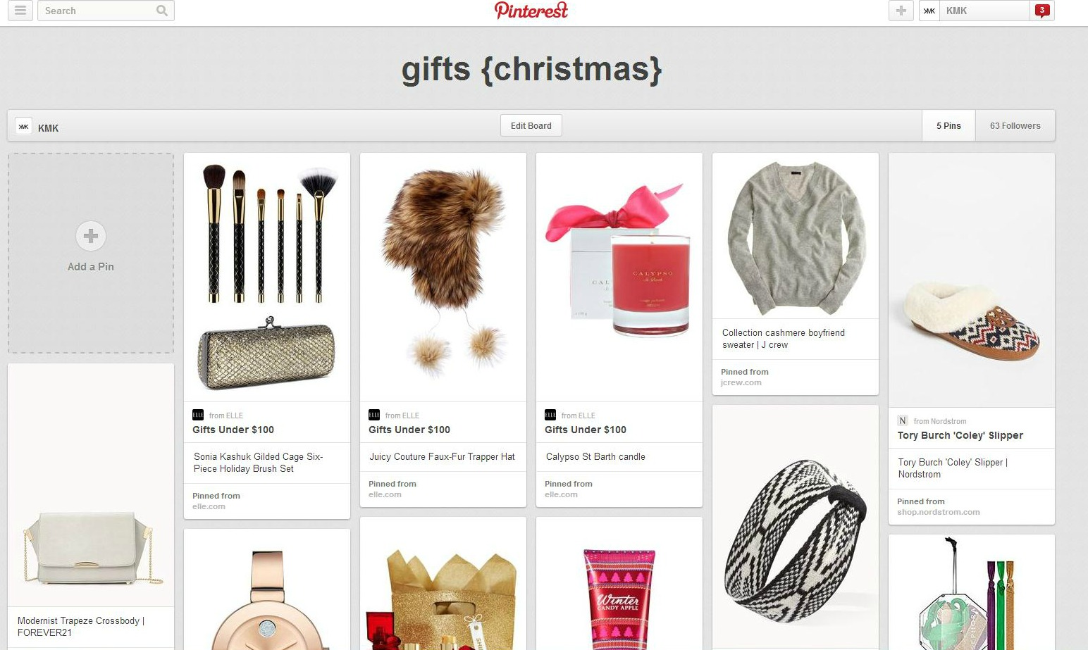 stylish pinterest board for christmas gift ideas
