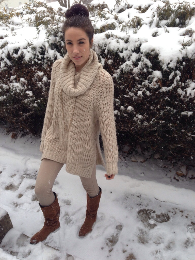 A Camel Coat and Cream Colored Sweater – KMK Style Blog