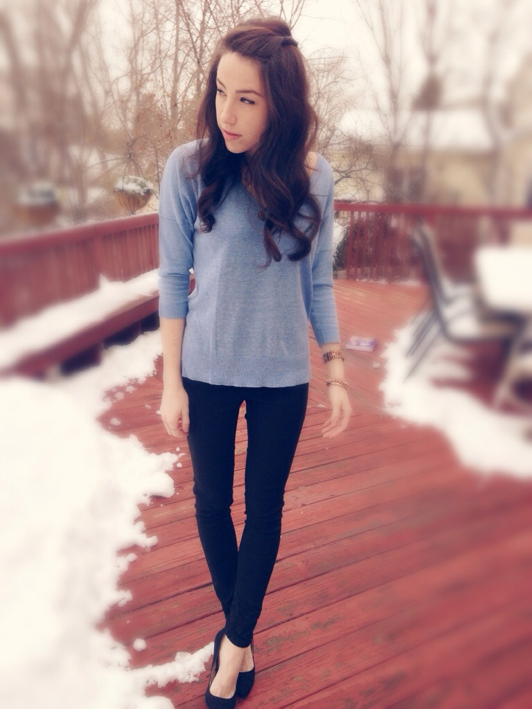 Winter Blues | Outfit Idea | #KMKstyling