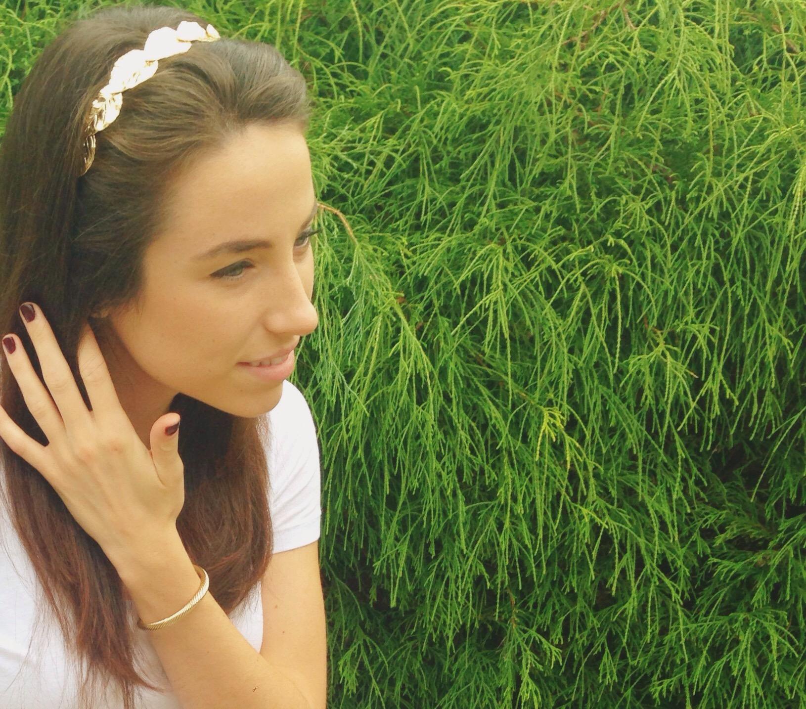 fall hair accessory   gold leaf hairband