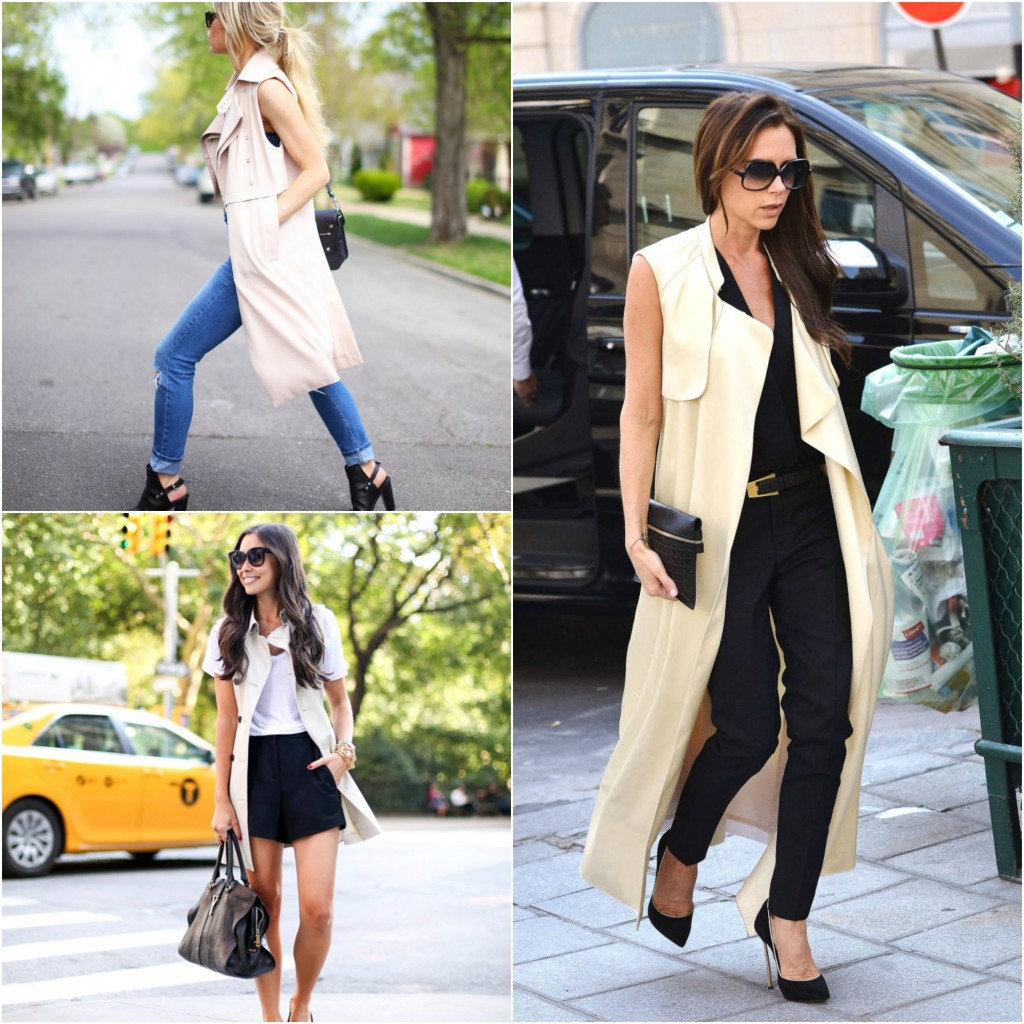 trend to try the sleeveless trench
