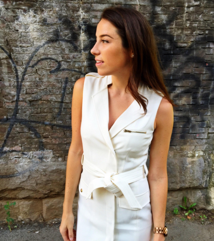 white vest dress